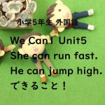 We Can1 Unit5 She can run fast. He can jump high.